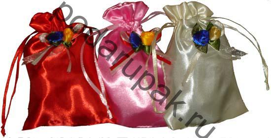 Подарочные сумочки атласные.